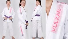 Vulkan Pro Light BJJ Gi White with Pink Patches