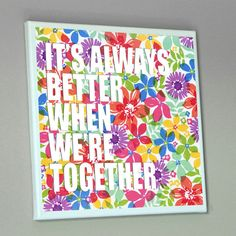 12x12 VALENTINES DAY GIFT Love Quote Canvas It's by PrintTypes, $30.00