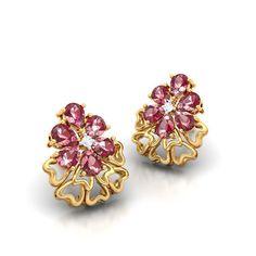 crimson diamond earring