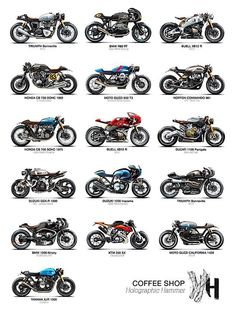 """""""Coffee Shop"""" by Holographic Hammer - M . - """"Coffee Shop"""" by Holographic Hammer – Motorad – - Cafe Racer Style, Cafe Racer Bikes, Cafe Racer Motorcycle, Moto Bike, Bike Style, Suzuki Cafe Racer, Triumph Cafe Racer, Motorcycle Types, Motorcycle Design"""