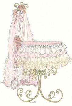 Jennelise: Beautiful Baby Beds Shabby Chic Baby Nursery <3