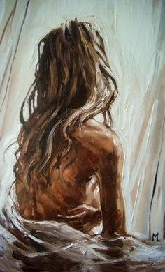 """"""" DREAMING IN THE SUN... """" - original oil painting on canvas, palette knife by Monika Luniak #OilPaintingKnife"""
