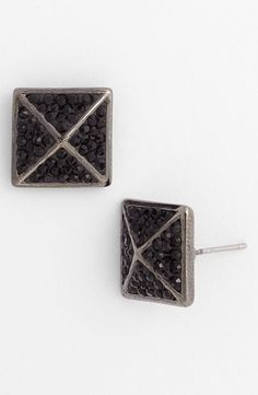 All that glitters: crystal pavé pyramid studs in hematite
