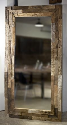 Altholz Spiegel Handgefertigt In Rosenheim Bayern Reclaimed Wood Mirror, Weathered Wood, Old Wood, Rustic Wood, Wood Mirror Bathroom, Wood Framed Mirror, Diy Mirror, Upcycled Home Decor, Diy Home Decor