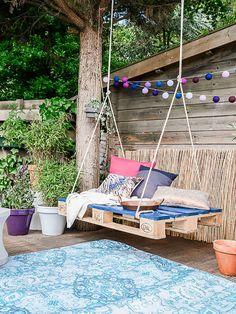 Más inspiración para decorar vuestros jardines y terrazas, en esta ocasión cómo hacer balancines.