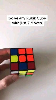 Amazing Life Hacks, Simple Life Hacks, Useful Life Hacks, Diy Crafts Hacks, Fun Crafts, Summer Crafts, Rubiks Cube Patterns, Solving A Rubix Cube, Iq Puzzle