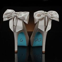 Blue Bottomed Bow Heels
