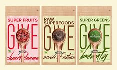 Wholesome Superfood Packets - Nutriboost's Healthy Packaging Designs Show the Power of Superfoods (GALLERY)