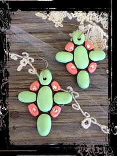 The Bling Box - Mint & Coral Earrings $32.99