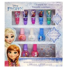 TownleyGirl Disney Themed Super Sparkly Cosmetic Set with lip gloss, nail polish and nail stickers (Frozen) Sparkly Makeup, Sparkly Nails, Pretty Makeup, Green Watermelon, Flavored Lip Gloss, Cosmetic Kit, Disney Frozen 2, Frozen Toys, Frozen Movie