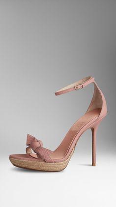 Deerskin Knot Detail Sandals | Burberry