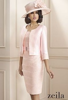 photo of ladies formal daywear design 03 detail by Zeila Mother Of Bride Outfits, Mother Of Groom Dresses, Mothers Dresses, Mother Of The Bride Hats, Elegant Outfit, Elegant Dresses, Beautiful Dresses, Mob Dresses, Fashion Dresses