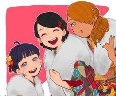 Uzumaki Himawari, Uchiha Sarada and Akimichi Chocho.