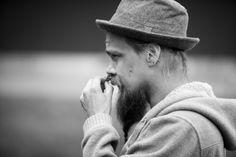 Forager Heikki Ruusunen sniffing Pine.