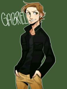 I've always been in love with Gabriel. But I guess this helps a bit. Gabriel by Konoira Supernatural Angels, Supernatural Drawings, Supernatural Pictures, Supernatural Wallpaper, Supernatural Memes, Gabriel Spn, Supernatural Gabriel, Richard Speight, Ange Demon