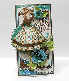 Another stunning Julie Nutting project by our amazing readers! Prima Paper Dolls, Prima Doll Stamps, Card Tags, Gift Tags, Handmade Tags, Artist Trading Cards, Doll Crafts, Paper Cards, Tag Art