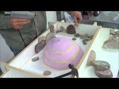 GFRC (Glass Fiber Reinforced Concrete) Vanity with inlayed rocks