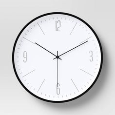 "19"" Plastic Wall Clock White/Black - Project 62™ : Target Freestanding Mirrors, Handmade Wall Clocks, Toilet Brushes And Holders, Lantern String Lights, Wall Clock Online, Thing 1, Lantern Candle Holders, Curtains With Rings, Gifts For Office"