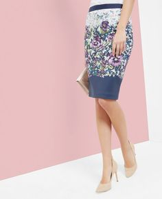 Entangled Enchantment pencil skirt