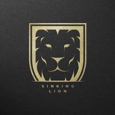 SINKING LION logo design