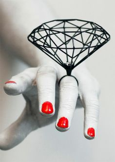 Amazing diamond ring from japanese designer, Joji Kojima.