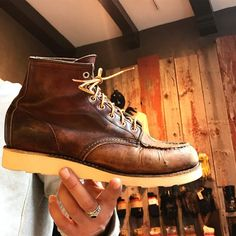 The beauty of a resole; the shoe fits perfect since they are broken into the shape of your feet and with the fresh sole youve got a brand new pair of Red Wing Shoes exactly made for your feet! Come and get your old beauties resoled at our store! - http://ift.tt/180OFjM -