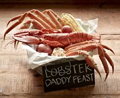 #JoesCrabShack #JoesMaineEvent - Joe's Crab Shack -  The Maine Event - Lobster Daddy Feast: Snow crab and a whole lobster all shacked up in one bucket.