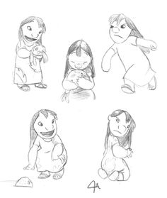 Lilo practice sketches by flash-fox1.deviantart.com on @deviantART