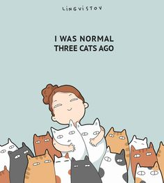 40 Funny Doodles For Cat Lovers and Your Cat Crazy Lady Friend I was normal three cats ago. 40 Funny Doodles For Cat Lovers and Your Cat Crazy Lady Friend grumpy tom talking nyan. I Love Cats, Cute Cats, Funny Cats, Funny Animals, Cute Animals, Crazy Cat Lady, Crazy Cats, Catsu The Cat, Funny Doodles