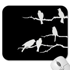 Shop White Bird Silhouette Poster created by Lotacats. Bird On Branch, Bird Tree, Bird Silhouette Art, Black And White Birds, Black Art, Snow White, Bird Pictures, Patch, Custom Posters