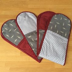 A variety of oven gloves