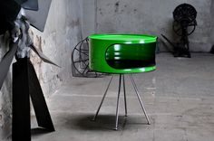 - Beistelltisch / Telefontisch aus      200l Neu Fass   - Pulverbeschichtung in Farbe Ihrer Wahl