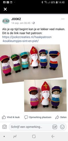 Beautiful Crochet, Diy And Crafts, December, Crochet Hats, Dolls, Knitting, Create, Blog, Christmas