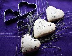 *Lavender Heart Scones - 2/3C milk 1T lavender flowers 2C flour 1t baking powder 4T sugar (superfine) 3 1/2T cold butter chopped