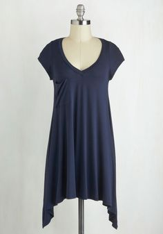A Crush on Casual Tunic in Navy - Blue, Solid, Casual, Short Sleeves, V Neck, Minimal, Travel, Pockets, Better, Best Seller, Blue, Short Sleeve, Spring, Maternity, Good, 4th of July Sale, Long, Americana, Top Rated, Lounge