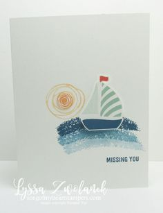 Clean and simple boat card nautical stampin up