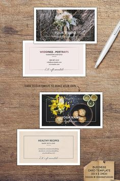 Business card template for photographers. Easy to customize for almost any profession.
