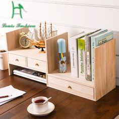 Louis Fashion creative children wood desk desktop bookcase simple small bookshelf combined rack