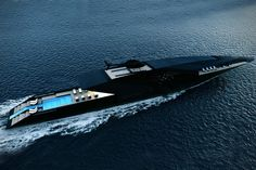 Striking mega yacht BLACK SWAN concept by Timur Bozca. Measuring impressive 70 meters in length over all, mega yacht Black Swan concept has been beautifully designed by the young Turkish yacht &. Yacht Design, Boat Design, Deck Design, The Black Swan, Super Yachts, Swan Yachts, Yachting Club, Yacht Boat, Speed Boats