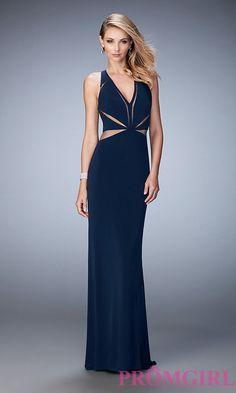 123fc8ee0 Sheer Cut Out V-Neck Long La Femme Prom Dress. Vestidos ...