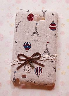 Diy Handmade Cloth Art Phone Case no.63  Balloons with French Style for Samsung Galaxy Nexus S2 S3 SIII Note Ace 2 Plus Other Phones. $19.99, via Etsy.