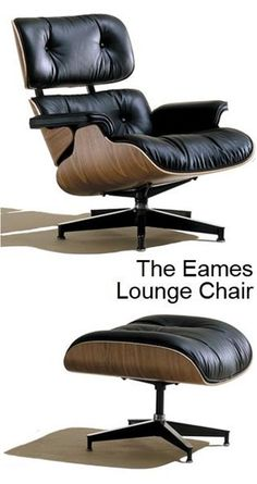 The Eames Lounge Chair & Ottoman is cushy & comfortable. Introduced 55 years ago by husband-&-wife team Charles & Ray Eames for the Herman Miller furniture company, the unique looking chair is part sculpture, part recliner; a La-Z-Boy for the high minded. From Design Within Reach @ http://www.dwr.com/product/eames-lounge-chair-vicenza.do?sortby=ourPicks#.USAkumdS60I