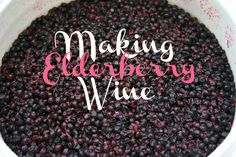 : Making Elderberry Wine- yes please! If only my Elderberry bushes would start producing so I can make this! Vinaigrette, Wine Recipes, Real Food Recipes, Canning Recipes, Herb Recipes, Healthy Recipes, Fermentation Recipes, Homemade Wine, Homemade Gifts