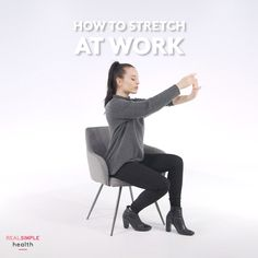 Hydrangea Care Discover How to Stretch at Work How to Stretch at Work Desk Workout, Stretch Routine, Workplace Wellness, Hydrangea Care, Easy Stretches, Hip Openers, Sore Muscles, Yoga Videos, Real Simple