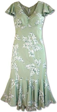 Pauahi Ulu Leaf Hawaiian Dress looks so cool & comfy : )