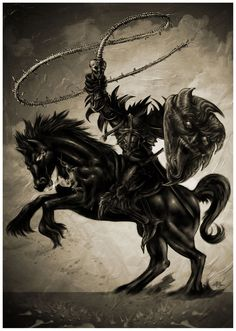 The Dullahan – the Irish headless horseman