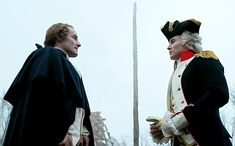 Clip of marquis de lafayette and general george washington, AMC TURN such a good show!!