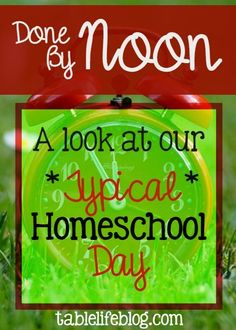 One question we frequently get asked about homeschooling is how long we actually spend on it each day. Our schedule and lesson plans have experienced some major changes since we started homeschooling, but one thing hasn't: for the most part, our typical homeschool day ends at noon. (This post contains affiliate links; please see disclosure …