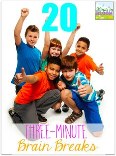 20 Brain Breaks: Brain breaks are an increasingly important aspect of daily classroom life. Here are 20 three-minute brain breaks to help you refocus your class! Movement Activities, Team Building Activities, Physical Activities, Motor Activities, Brain Activities, Reading Activities, Elementary Music, Elementary Schools, Upper Elementary