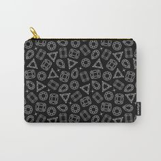 Black & White Diamond Pattern Carry-All Pouch #homedecor